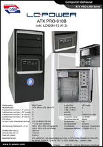 Datenblatt ATX-Gehäuse PRO-910B