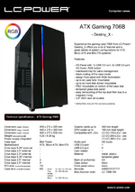Datasheet ATX case Gaming 706B Destiny_X
