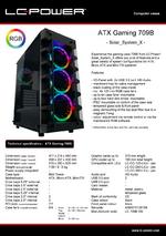 Datasheet ATX case Gaming 709B Solar_System_X