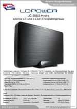 "Datenblatt 3,5""-Festplattengehäuse LC-35U3-Hydra"