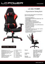 Datenblatt Gaming-Stuhl LC-GC-703BR