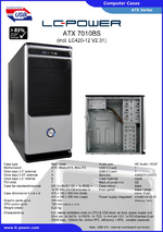 Datasheet ATX case 7010BS with PSU LC420-12