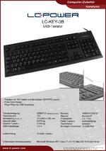 Datenblatt Tastatur LC-KEY-3B