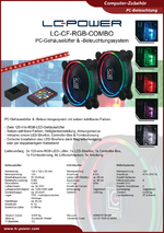 Datenblatt 120mm-RGB-Lüfter-Set LC-CF-RGB-COMBO