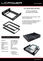Datasheet drive bay rack LC-ADA-525-35-625