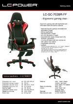 Datasheet gaming chair LC-GC-702BR-FF