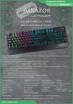 Datenblatt Tastatur LC-KEY-MECH-1-RGB