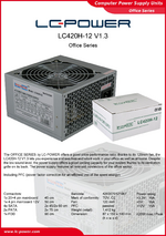 Datasheet ATX power supply unit LC420H-12 V1.3