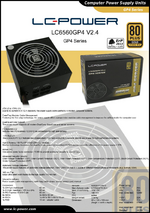 Datasheet ATX power supply unit LC6560GP4 V2.4
