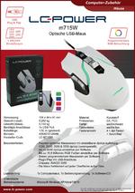 Datenblatt PC-Maus m715W
