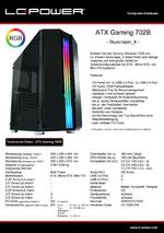 Datenblatt ATX-Gehäuse Gaming 702B Skyscraper_X