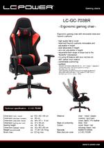 Datasheet gaming chair LC-GC-703BR