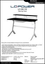 Datenblatt Gaming-Tisch LC-GD-1W