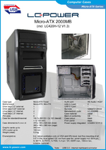 Datasheet Micro-ATX case 2000MB with PSU LC420H-12