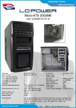 Datasheet Micro-ATX case 2000MB with PSU LC420H-12