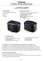 Anleitung Docking Station LC-DOCK-U3-II