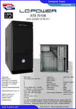 Datasheet ATX case 7010B with PSU LC420-12