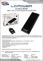 Datenblatt m.2-Festplattengehäuse LC-M2-C-NVME