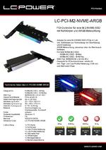 Datenblatt PCI-Karte LC-PCI-M2-NVME-ARGB