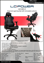 Datasheet gaming chair LC-GC-3