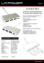 Datasheet USB hub LC-HUB-C-PD-2