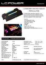 Datenblatt Arbeitsspeicher LC-RAM-DDR4-3600-RGB-16GB-KIT