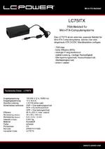 Datenblatt ITX-Netzteil LC75ITX