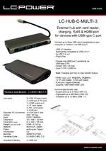 Datasheet USB hub LC-HUB-C-MULTI-3