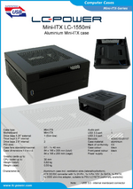 Datasheet Mini-ITX case LC-1550mi