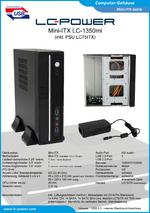 Datenblatt Mini-ITX-Gehäuse LC-1350mi
