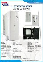 Datasheet Mini-ITX case LC-1403Wmi