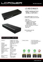 Datasheet m.2 SSD enclosure LC-M2-C-MULTI