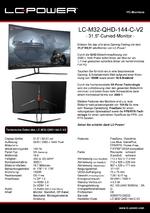 Datenblatt PC-Monitor LC-M32-QHD-144-C-V2