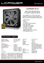 Datasheet ATX PSU LC6650M V2.31