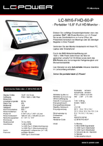 Datenblatt portabler Monitor LC-M16-FHD-60-P