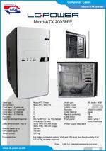 Datasheet Micro-ATX case 2003MW