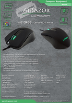 Datasheet PC mouse m810RGB