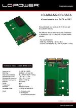 Datenblatt Festplattenadapter LC-ADA-M2-NB-SATA