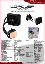 Datasheet CPU cooler LC-CC-120-LiCo