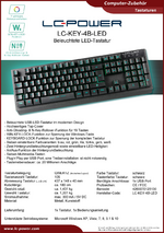 Datenblatt Tastatur LC-KEY-4B-LED