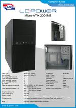 Datasheet Micro-ATX case 2004MB