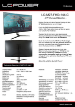 Datenblatt PC-Monitor LC-M27-FHD-144-C