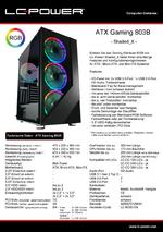 Datenblatt ATX-Gehäuse Gaming 803B Shaded_X