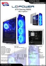 Datasheet ATX case Gaming 988W Blue Typhoon