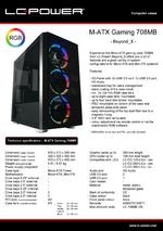 Datasheet M-ATX case Gaming 708MB Beyond_X