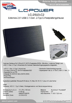 "Datenblatt 2,5""-Festplattengehäuse LC-25U3-C2"