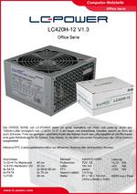 Datenblatt ATX-Netzteil LC420H-12 V1.3