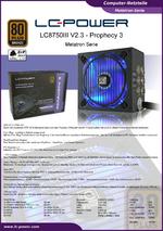 Datenblatt ATX-Netzteil LC8750III V2.3 Prophecy 3