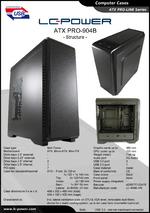 Datasheet ATX case PRO-904B Structure
