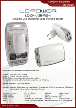 Datasheet USB charger LC-CH-USB-WS-4